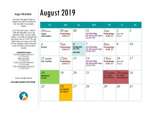 GEARS Kids Center 2019 Summer Program August