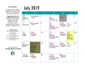 GEARS Kids Center 2019 Summer Program July